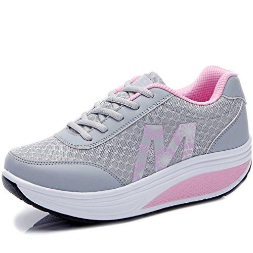 Solshine – Zapatillas de mujer Fashion Plateau, con cuña, Walkmaxx, zapatillas de fitness