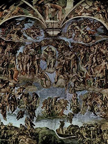 KELDOG Puzzles Rompecabezas - Michelangelo Buonarroti - Fresco del Juicio Final en el Muro del Altar de la Capilla Sixtina Vista General 1000 Piezas