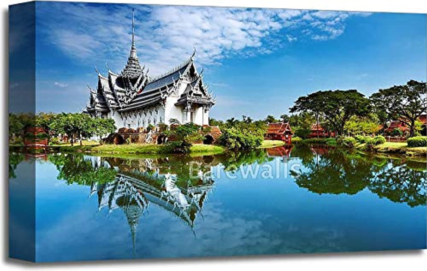 Sanphet Prasat Palace, Thailand Gallery Wrapped Canvas Art (12in. x 18in.)