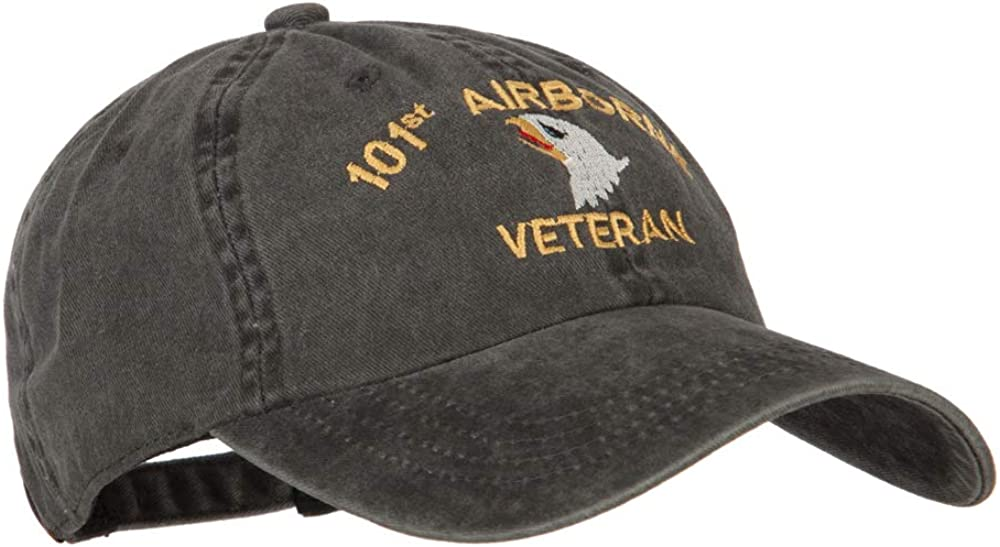 e4Hats.com 101st Airborne Veteran Embroidered Washed Cotton Twill Cap