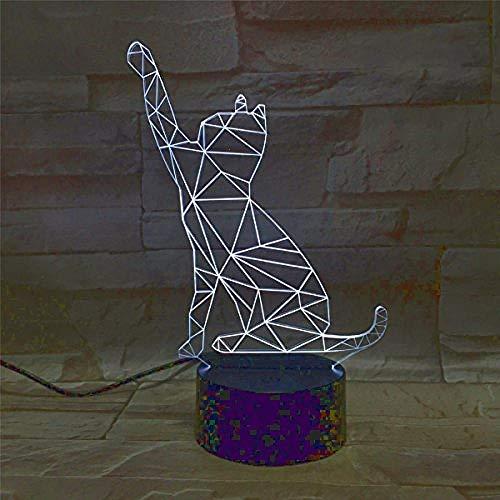 Lampe illusion 3d nachtlicht nachtlicht led usb acryl nachttischlampe mit 7 farben veränderbar perfekte geschenk für baby kind geburtstagsparty geburtstag - boot zu vo cute chat usb
