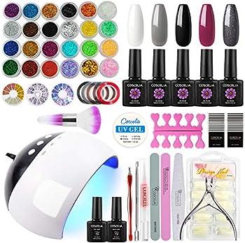 Coscelia Acrylic Gel Nail Polish 24W LED Nail kit