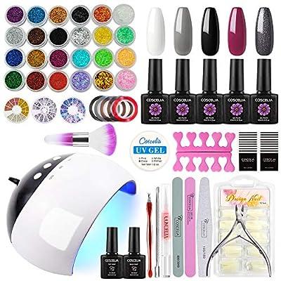 Coscelia 5 Colors Gel Nail Polish 10ml Starter Kit