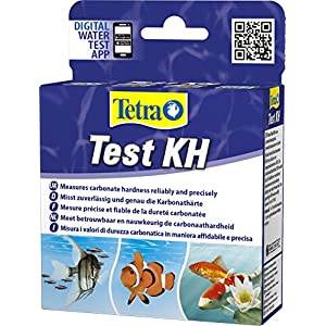 Tetra Test KH (carbonate) (water test for fresh and saltwater aquariums, reliably and accurately measures the carbonate hardness)