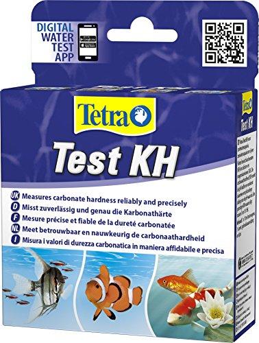 Tetra Test KH (Karbonathärte) - Wassertest für Süßwasser-Aquarien, Meerwasser-Aquarien und Gartenteiche, misst zuverlässig und genau die Karbonathärte