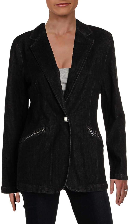 Lauren Ralph Lauren Womens Spring Casual Denim Jacket