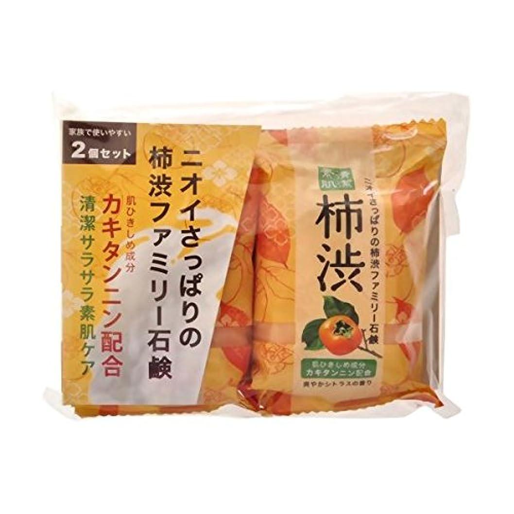 子孫願望感じ【お徳用 6 セット】 ペリカン 柿渋ファミリー石鹸 80g×2個×6セット