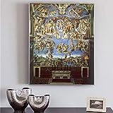 ganlanshu La Famosa Pintura al óleo del veredicto Final, póster y Mural Decora la Sala de Estar en Lienzo,Pintura sin Marco,40X53cm
