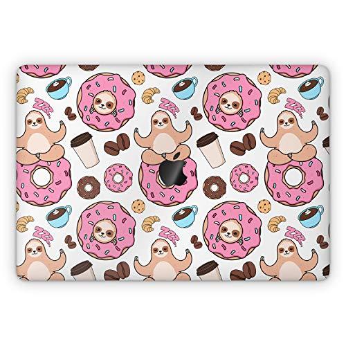 Lex Altern Skin Decal for Apple MacBook Pro 13 2020 Air Mac 16 2019 15 inch Retina 2018 2017 12 11 Cover Cute Yoga Touch Bar Pink Donut Vinyl Sloth Top Animal Kawaii Keyboard Coffee Full Body mch021