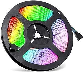 ADORIC Tira LED 5M impermeable con mando a distancia 3528 RGB tira de 300 LED multicolor para Navidad, bodas, fiestas