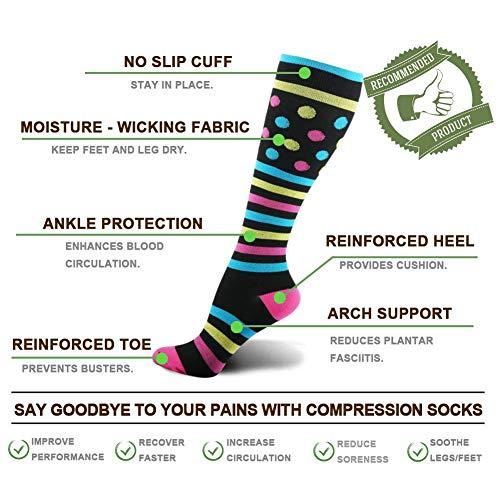 Kompressionsstrümpfe Sneaker Socken Herren Damen Laufsocken Sprunggelenkschutz und Mittelfußstütze für Laufen Radfahren Erholung Blutzirkulation - 4