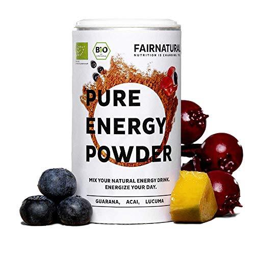 Guarana Energy Drink Powder BIO [Booster Biologiche dalla Germania] con Guarana & Acai in polvere I Alternativa organiche e vegana alle bevande energetiche e al caffè (100g)