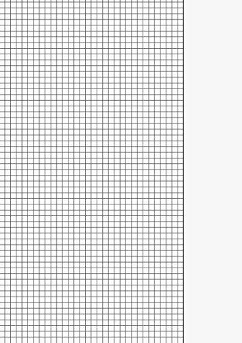Brunnen 102142650Cancelleria–Carta millimetrata (80g/mq, A4,–Linee 26scolastico, 50fogli) bianco
