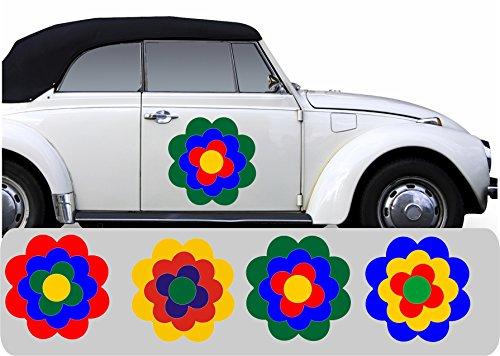 WERBUNGkreativ Blumen Aufkleber Pril Blume Prilblumen Retroblume Retro Prilblümchen Set Motiv- und Größenwahl
