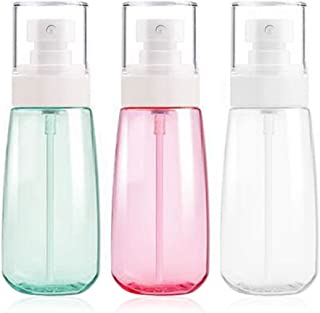 Fine Mist Spray Bottle 3.4oz/ 100ml Empty Cosmetic Refillable Travel Containers Plastic Hair Spray Bottle Sprayer for Perfume Skincare Makeup Lotion 3 Pack