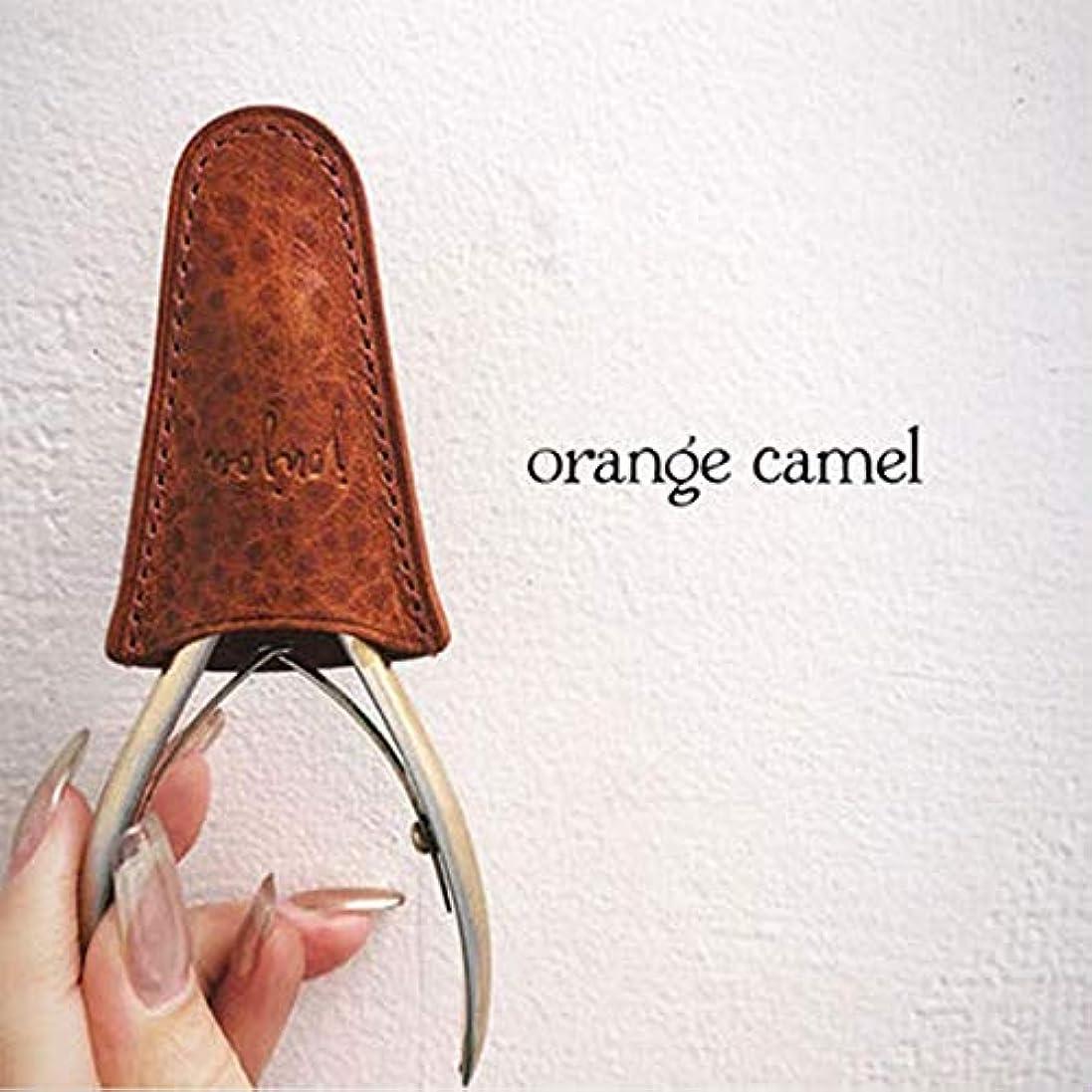 取り消す八百屋結論◆jou jou ジュジュ Etui d'origine Nipper (レザーニッパーケース) オレンジキャメル