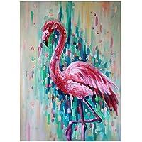 ACANDYL Paint by Number Flamingo DIY 油絵 数字キット 子供 大人 学生 初心者 DIY キャンバス絵画 数字によるアクリル油絵 アートクラフト デコレーション用 フラミンゴ 16x20インチ