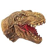 Hanzwa Giocattoli per Burattini a Mano,Gomma Morbida Realistico Testa di Dinosauro Tyrannosaurus Rex T-Rex