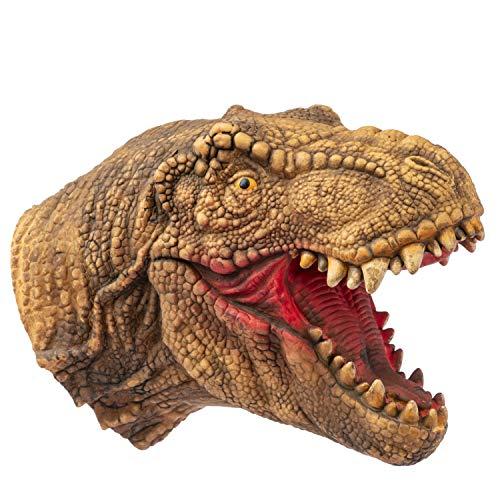 Yolococa Handpuppe Spielzeug,Weiches Gummi Realistischer Raubvogel-Dinosaurier-Kopf Tyrannosaurus Rex T-Rex