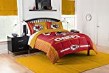 NFL Kansas City Chiefs Full Comforter and Sham Set, Full/Queen