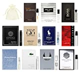 11 Designer Cologne Samples Vials For Men with Organza Bag