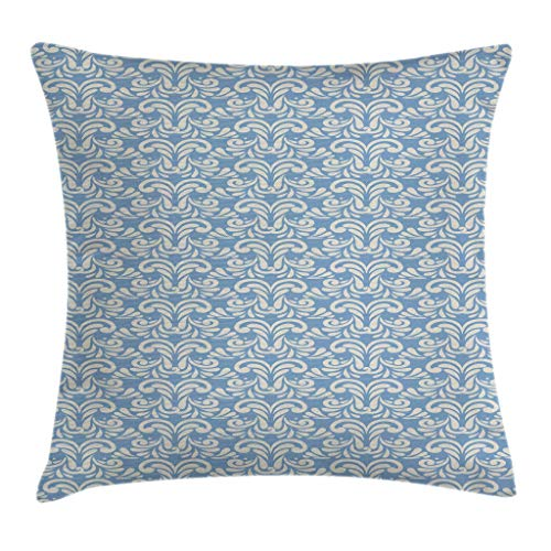 Lichenran Decorative Pillow Covers Abstract Modern Art Inspired Swirls Curves Floral Pattern Pale Toned Image Pillowcases Cushion Cover Throw Home Decor for Sofa Car Bedroom(45x45cm)