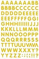 (シャシャン)XIAXIN 防水 PVC製 アルファベット ステッカー セット 耐候 耐水 ローマ字 キャラクター 表札 スーツケース ネームプレート ロッカー 屋内外 兼用 TS-541 (1点, イエロー)
