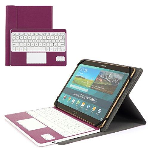 Coastacloud Custodia Per Tastiera Bluetooth 3.0 Per Tablet Samsung Galaxy Tab Pro Con Tastiera Con Layout Tedesco Azerty - Compatibile Con Qualsiasi Tablet Android / Windows Da 10,1 Pollici Viola