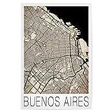 artboxONE Poster 45x30 cm Reise Retro Map of Buenos Aires