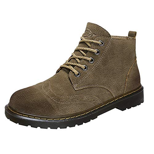 Lowest Price! Dacawin Retro Premium Men's Martin Boots Tooling Boots British Boots High Help Casual ...