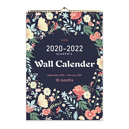 2021 Calendar-18 Monthly Wall Calendar with Thick Paper,Large Wall Calendar 12x17 Inches,Vibrant September 2020- February 2022