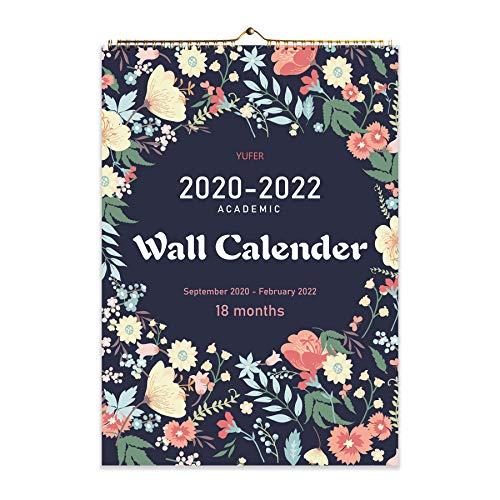 (Kupon DISKON 60%) Kalender Dinding 18 Bulan September 2020 - Februari 2022 $ 5.18