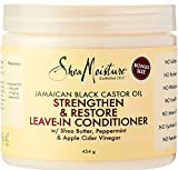 Shea Moisture Jamaican Black Castor Oil Strengthen & Restore Leave-In Conditioner, with Shea Butter,...
