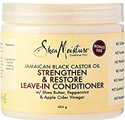 Shea moisture leave in conditioner to help you finger comb