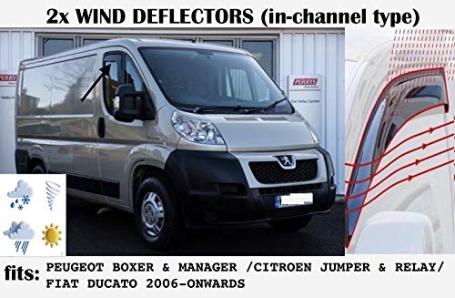 OEMM Windabweiser für Citroen Relay Jumper/Peugeot Boxer/FIAT Ducato ab 2006 / Acrylglas, 2 Stück