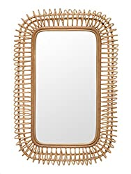 Amazon Koubou Rattan Coiled Rectangular wall Mirror