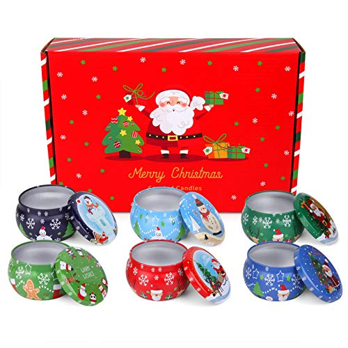 3HQ Candle Tin Cans with Lids | 4 oz. Round Empty Tin Cans Containers, 6 Pack | Perfect for Candle Making, Arts & Crafts, Storage and Festival Gifts