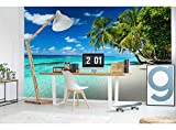 Vlies Fototapete STRAND IM PARADIES 375 x 250 cm | Vliestapete - Wandtapete | PREMIUM VLIES QUALITÄT