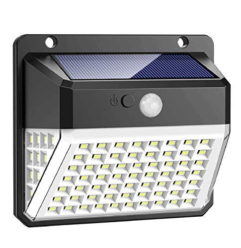 Solarleuchte für Außen, Trswyop 82 LED Solarlampen mit Bewegungsmelder Wasserdichte Solar Beleuchtung 270° Superhelle Solarlicht mit 3 Modi Wandleuchte 2000mAh Solarleuchten für Garten,Patio [1 Stück]