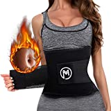 Waist Trimmer Trainer Belt for Women Men Weight Loss Premium Neoprene Sport Sweat Workout Slimming Body Shaper Sauna Exercise Black