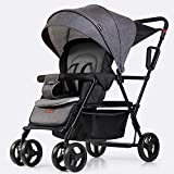 KimCC Cochecito de bebé para el automóvil Carro de bebé, Cochecito Plegable del Cochecito de bebé Ajustable de Alta Ver Cochecito Travel System Carro Infantil