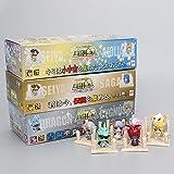 Yvonnezhang 21 unids / Set Anime Seiya Figura Gold Egg Box PVC Figura de acción Caballeros del Zodiaco Juguete Modelo Q Edición Regalo de los niños