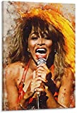 YUMKNOW Druck Auf Leinwand 70x110cm Kein Rahmen Tina Turner