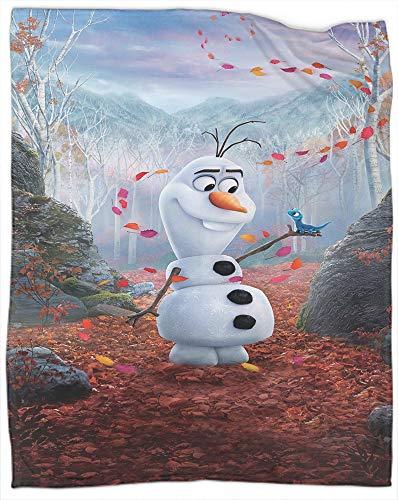 Manta decorativa extra suave con diseño de Frozen Movie Decoraciones de Navidad Año Nuevo, para sofá, cama, camping, viajes, tamaño completo de 70 x 90 pulgadas