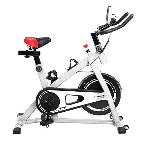 Sweepid - Bicicleta estática profesional para entrenamiento en interiores, hasta 200 kg, color blanco