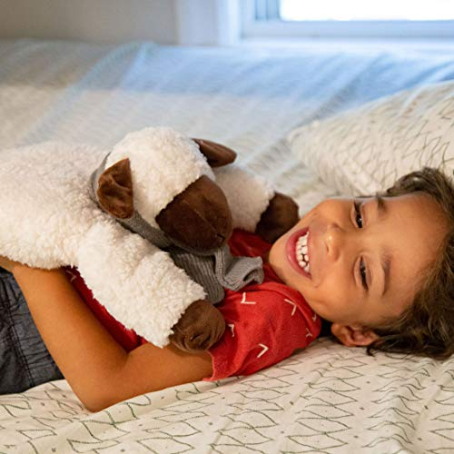 Huggaroo Lamb Weighted Lap Pad | 3.6 lb, 29 x 8 inch, Washable, White
