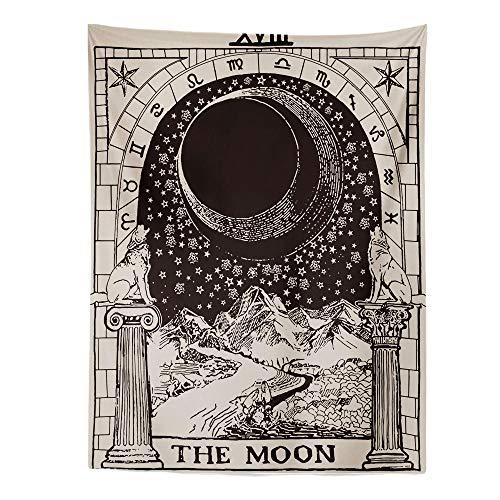 ZHANGXIANG The Moon Star Tapiz Colgante De Pared Astrología Adivinación Colcha De Playa Estera 95X73 / 150X100 / 150X130 1 Piezas-Estilo-03_Los 200X150Cm