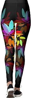 DIYCCY - Pantalones de yoga con pétalos de arcoíris para mujer, cintura alta