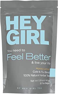 Immune System Booster - Feel Better Herbal Tea Relieves Your Ugliest and Nastiest Cold and Flu Symptoms - A Natural Supplement Packed with Your Daily Vitamin C | The Perfect Gift Idea for Women