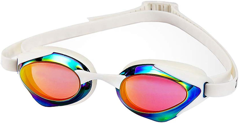 LALAWO Yongjing HD plating flat light adult goggles men's professional sports competition swimming glasses ladies waterproof anti-fog